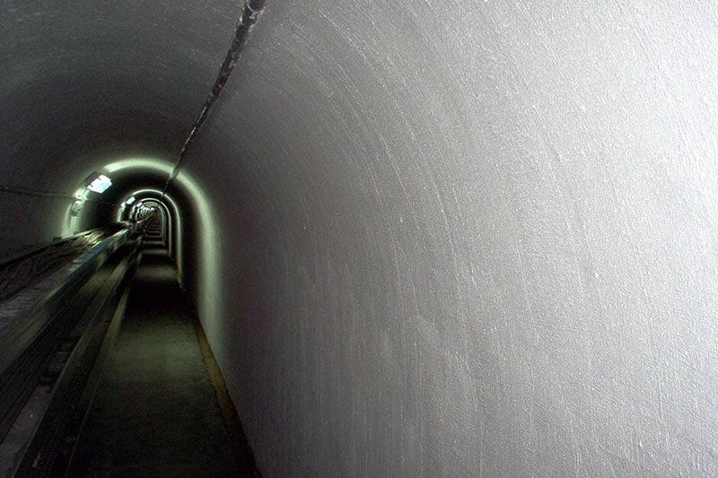 estado final de túnel subterráneo tras la impermeabilización