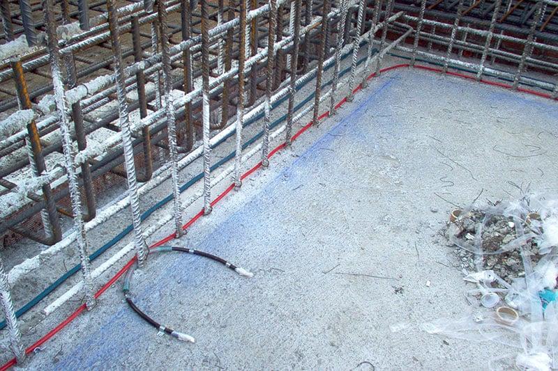 Impermeabilización de junta en cimientos
