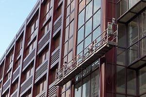 obras en fachada edificio Viapol Sevilla