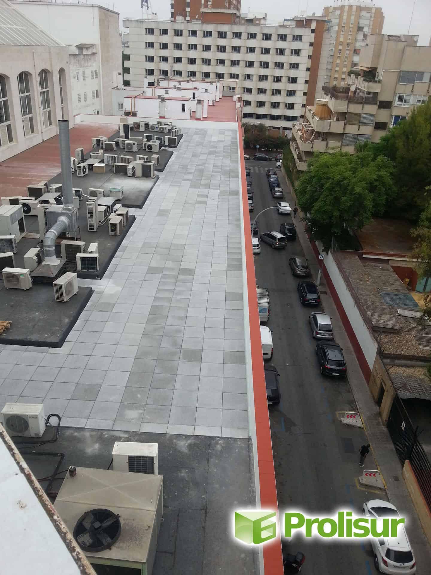 Impermeabilización y aislamiento térmico en cubiertas del Edificio Forum en Sevilla