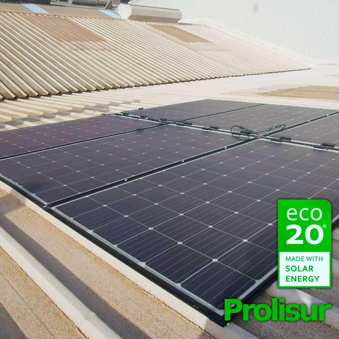 Placas fotovoltaicas en Prolisur