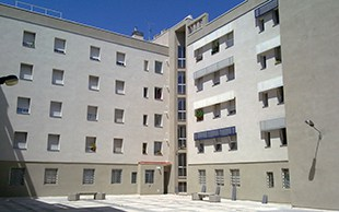 Fachada edificio con sistema sate