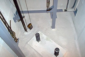 estado final de foso de ascensor impermeabilizado