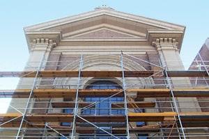 obras para restauración de fachada histórica