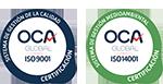 Certificados ISO 9001 y ISO 14001